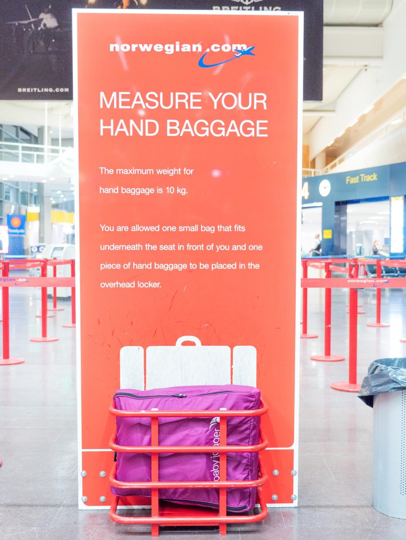 handbagage norwegian usa